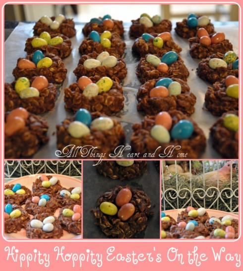 Chocolate Birds Nests No Bake