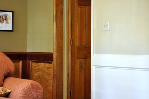 Painting Stained Wainscoting Molding And Doors All