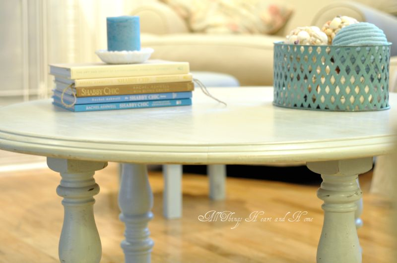 round coffee table from a dinning table! - all things heart and home