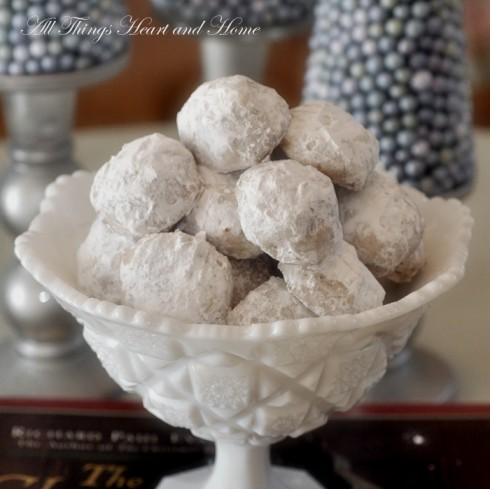toffee snowball cookies