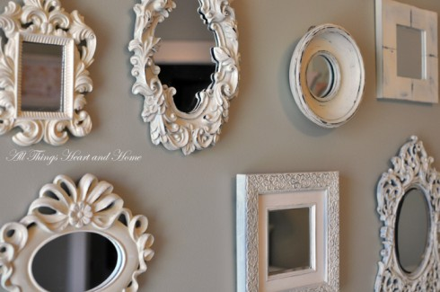 Wall Of Mirrors wall of tiny mirrors! - all things heart and home