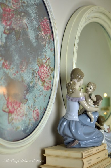 Vintage inspired faux mirror all things heart and home for Antique look mirrors cheap