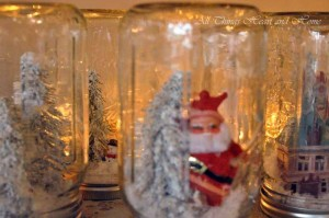 Anthro Inspired Mason Jar Snow Globe