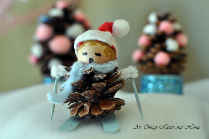 Christmas craft for kids all things heart and home for Crafts made with pine cones for christmas