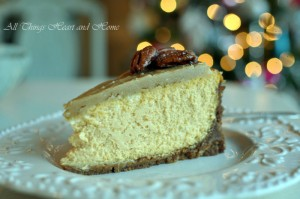 Pumpkin Cheesecake with Ginger Snap-Pecan Crust & Praline Topping ...