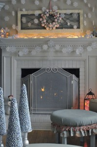 Snow Day Christmas Mantle