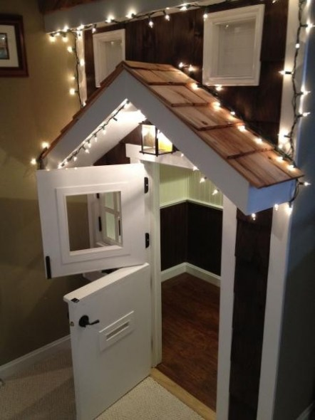 Lighting Basement Washroom Stairs: Planning An Inside Playhouse!