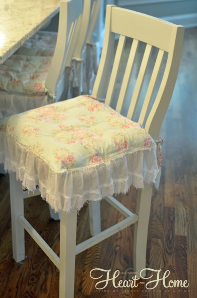 shabby chic chair cushions painted bar stools all. Black Bedroom Furniture Sets. Home Design Ideas