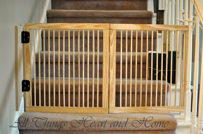 Making A Baby Gate For Stairs All Things Heart And Home