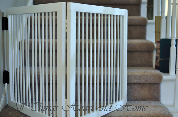 Diy Baby Gate For Stairs All Things Heart And Home