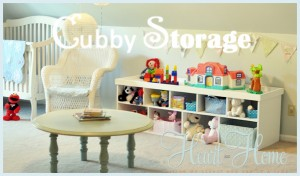 DIY Cubby Storage and Play Table