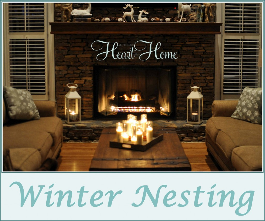 Winter decorating all things heart and home for Home decorations after christmas