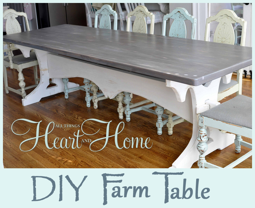 DIY Farm Table All Things Heart And Home - Marble top farm table