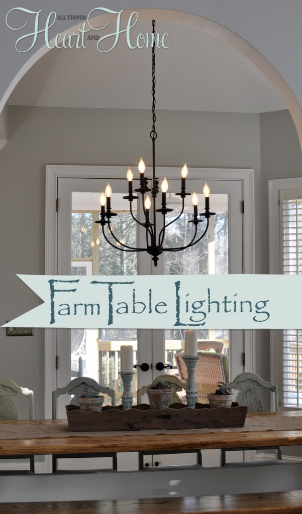 lighting over the farmhouse table the winner all things heart and