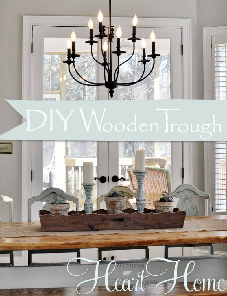 Wooden trough diy all things heart and home
