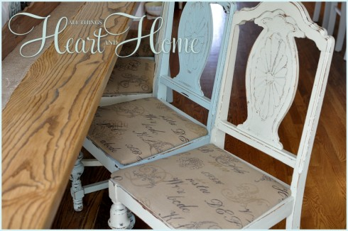 Recovering Farm Table Chairs All Things Heart And Home