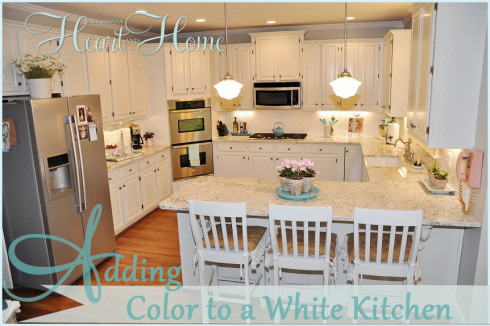adding color to a white kitchen adding color to a white kitchen   all things heart and home  rh   allthingsheartandhome com