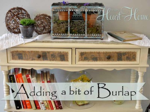 have you seen any furniture with added burlap or fabric inserts burlap furniture