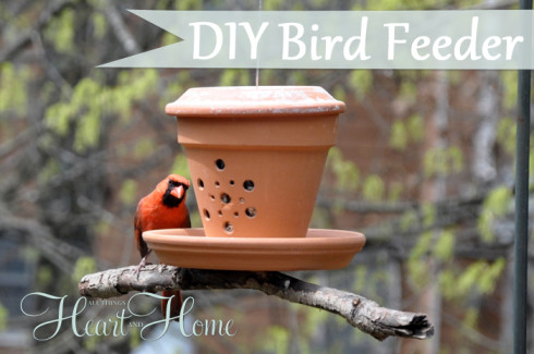 bird feeder from a flower pot