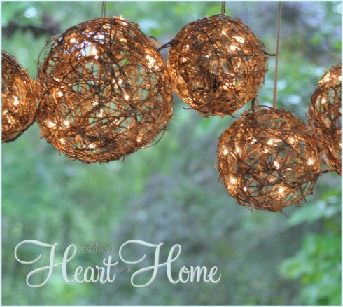 diy outdoor chandelier & Easy DIY Outdoor Chandelier - All Things Heart and Home