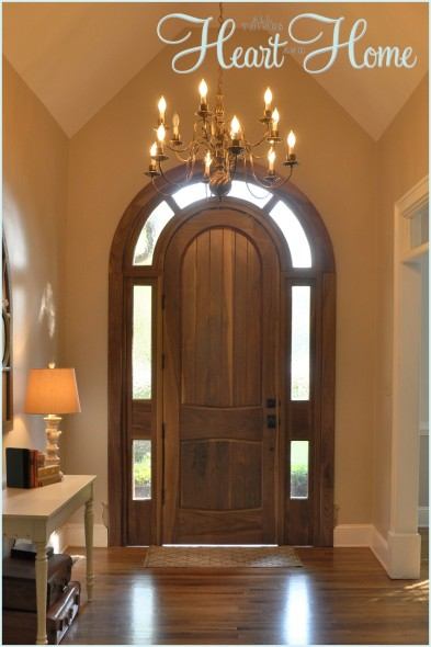 arched front doorDIY Arched Tudor Door  All Things Heart and Home