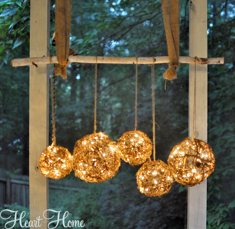 Diy Chandelier String Lights : DIY String Light Projects - All Things Heart and Home