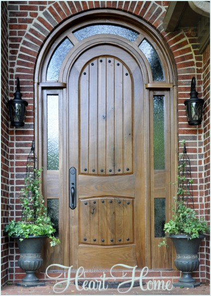 diy tudor door & Adding Clavos to the Entry Door - All Things Heart and Home