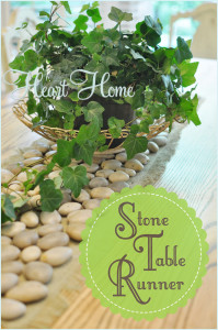 DIY Stone Table-Runner