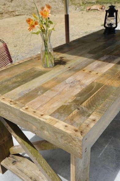 Pallet projects all things heart and home for Table exterieur palette