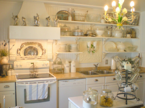 Beautiful White French Kitchens white kitchen love! - all things heart and home