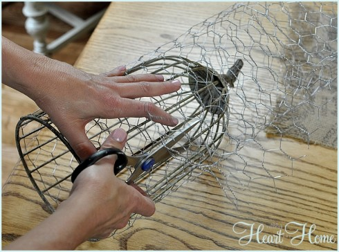 diy wire cloche