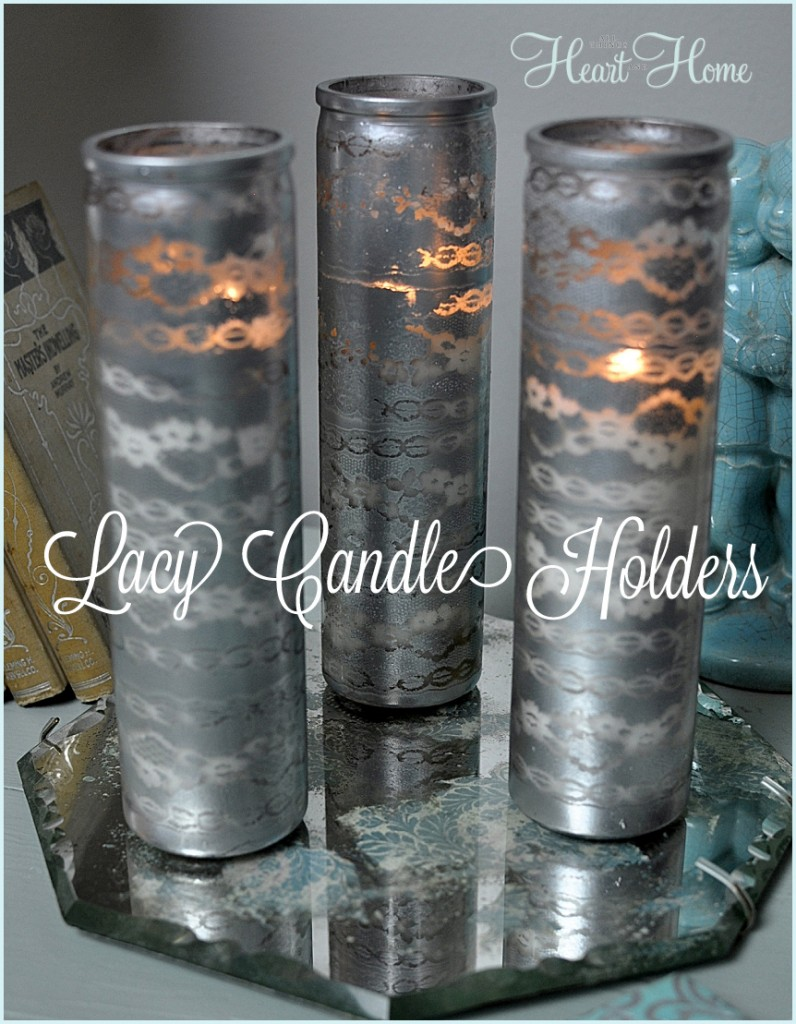 Diy painted glass candle holders all things heart and home for How to make glass candle holders