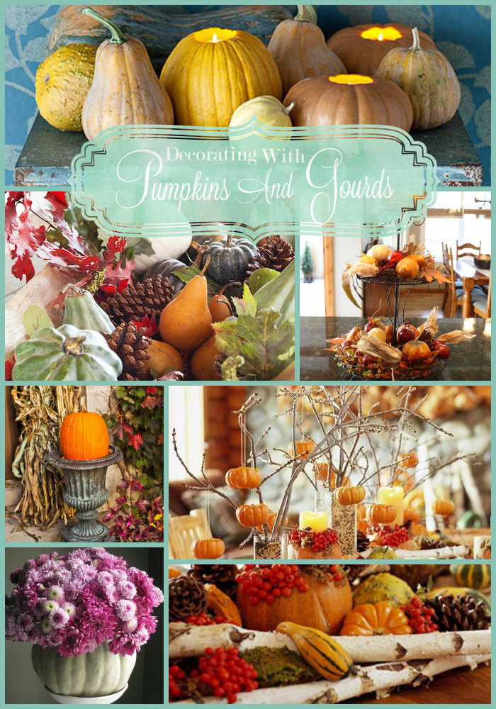 & Decorating with Pumpkins and Gourds - All Things Heart and Home