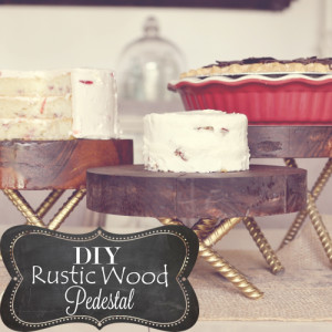 diy rustic wood pedestals