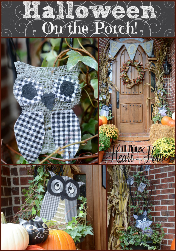 Halloween outdoor decorations all things heart and home for Outside halloween decorations to make at home