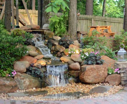 Pondless waterfall all things heart and home for Design of pondless waterfalls