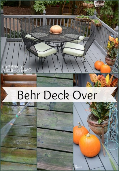 ... people at Behr Paint sent me B ehr Premium DeckOver in Slate Gray