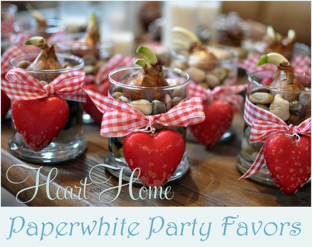 PaperWhite Party Favors