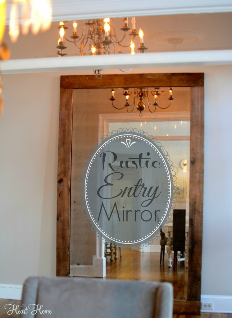 Rustic Foyer Mirror : Rustic entry mirror diy all things heart and home