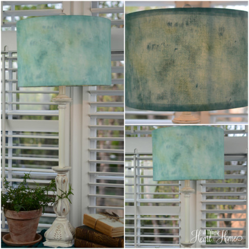 diy watercolor lamp shade