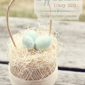 Vintage-Thread-Spool-Egg-Basket