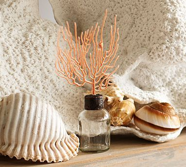 coral topped bottles pottery barn