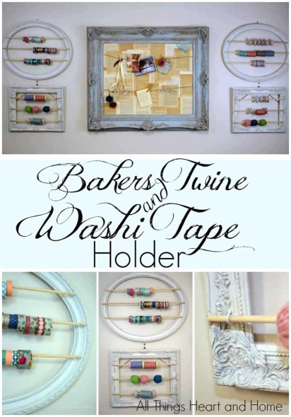 Bakers Twine and Washi Tape Holder