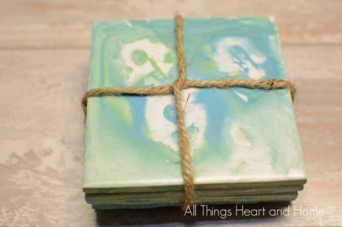 DIY Beachy Coasters