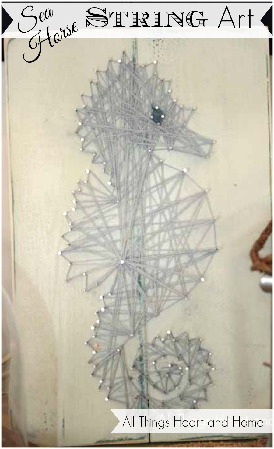 Free String Art Patterns To Print Easy sea horse string art - all ...