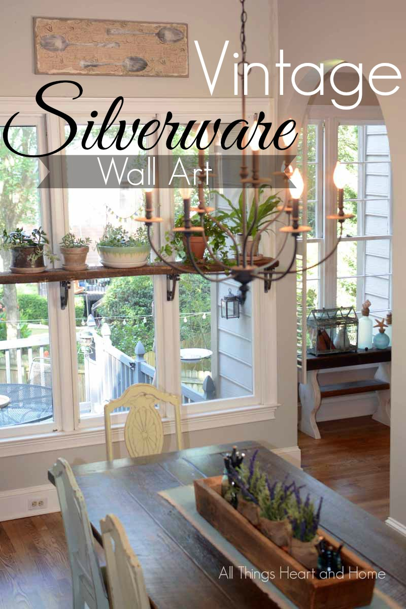 & DIY Vintage Silverware Wall Art - All Things Heart and Home