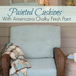 Painted Cushions with Americana Chalky Finish Paint