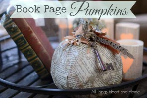 Book Page Pumpkins