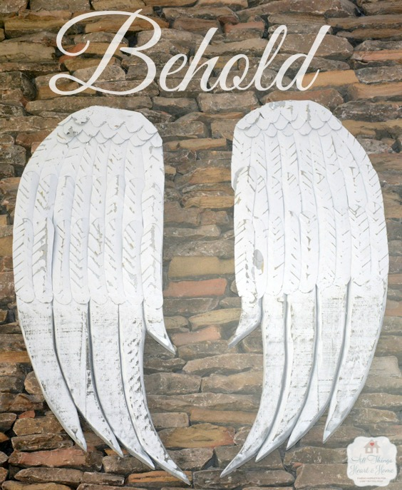 Behold Angel Wings with logo