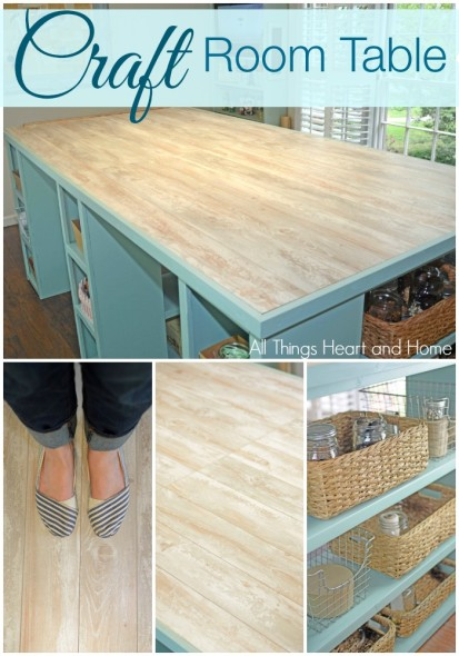~Craft Room Table w/ Flooring Top!~
